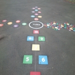 Thermoplastic Playground Target Graphics in Abbeyhill 4