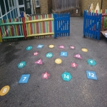 Thermoplastic Playground Target Graphics in Allerton 11