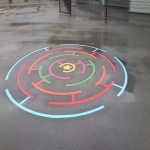 Thermoplastic Playground Target Graphics in Alton 8