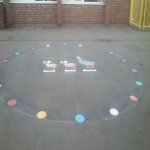 Nursery Play Area Markings in Somers Town 1