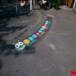 Thermoplastic Playground Maze Markings in Ballynafeigh 4