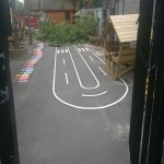 Thermoplastic Playground Target Graphics in Allerton 2