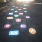 Thermoplastic Playground Educational Markings in Broad Heath 4