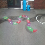 Thermoplastic Playground Target Graphics in Abbeyhill 12