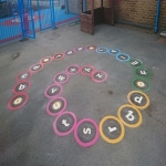 Thermoplastic Playground Target Graphics in Skye of Curr 7