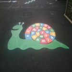 Thermoplastic Playground Target Graphics in Alton 4
