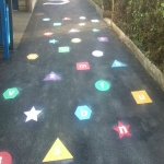 Thermoplastic Playground Educational Markings in Broad Heath 8