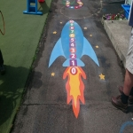 Thermoplastic Playground Target Graphics in Bangor on Dee/Bangor-is-y-coed 5