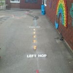Nursery Play Area Markings in Aston-By-Stone 2
