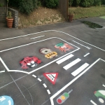 Nursery Play Area Markings in Stoneylane 2