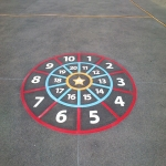 Thermoplastic Playground Target Graphics in Abbeyhill 5