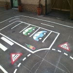 Thermoplastic Playground Target Graphics in Allerton 8