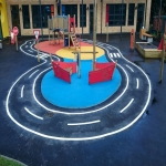 Nursery Play Area Markings in Aston-By-Stone 12