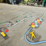 Thermoplastic Playground Target Graphics in Bangor on Dee/Bangor-is-y-coed 6