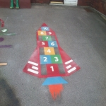 Nursery Play Area Markings in Brig o' Turk 12