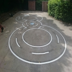 Thermoplastic Playground Target Graphics in Alton 5