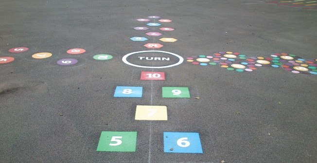Outdoor Learning Markings in Warwickshire