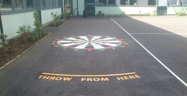 Play Area Target Markings in Badgworth