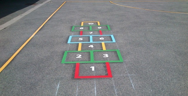 Under 5s Play Markings in Bramley Green