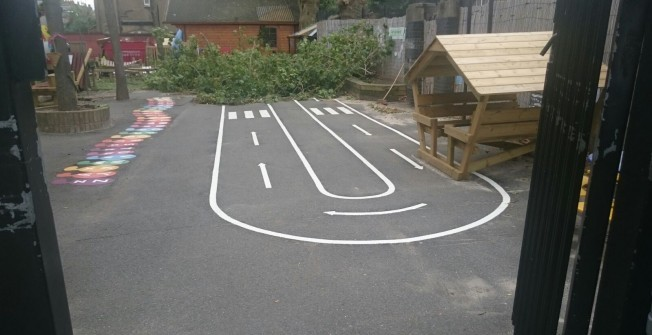 EYFS Outdoor Play Area in Bramley Green
