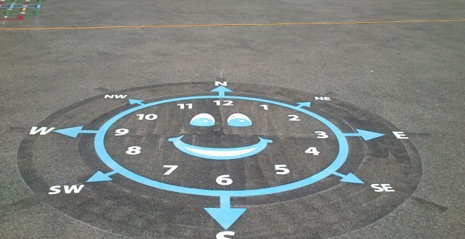Maths Playground Markings in County Durham
