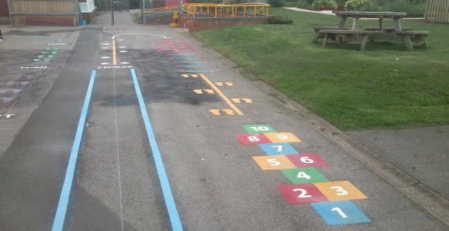 KS2 Play Area Marking in Acton
