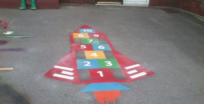 Nursery Play Area Markings in Aston-By-Stone