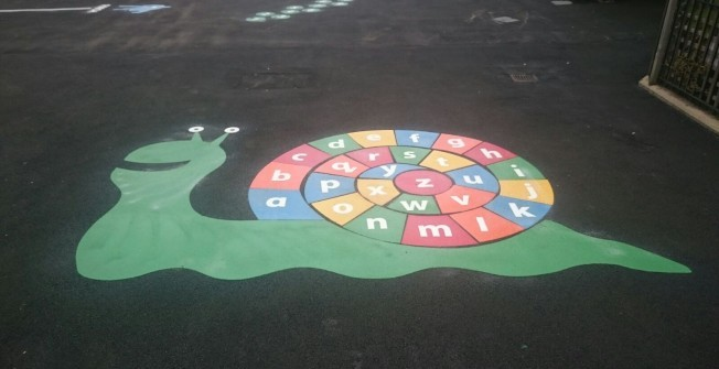 EYFS Outdoor Surface Graphics in Aldermaston