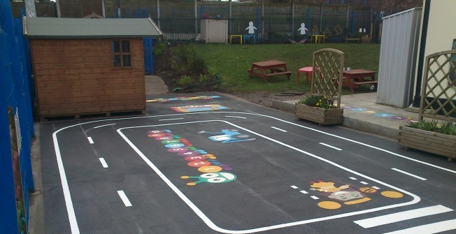 Playground Roadway Markings in Tolm