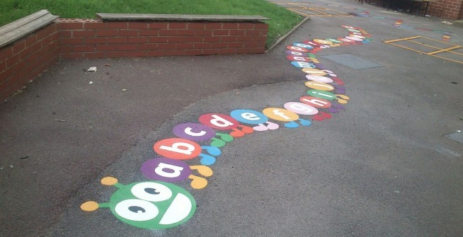 School Play Area Graphics in Powys