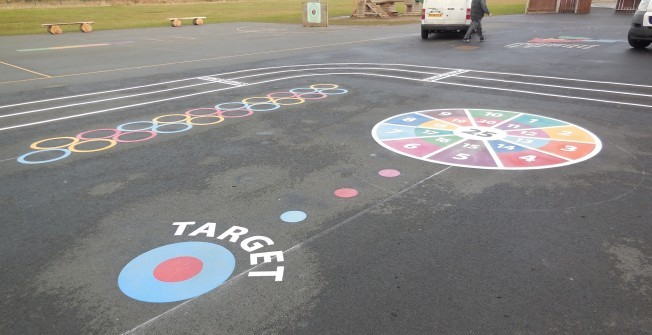 Thermoplastic Target Graphics in Bangor on Dee/Bangor-is-y-coed